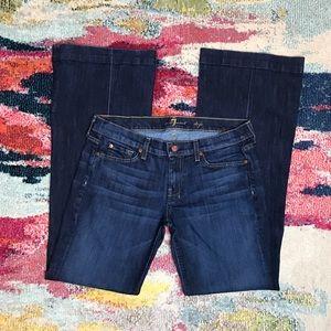 7FAM Dojo Flare Leg Dark Wash Jeans